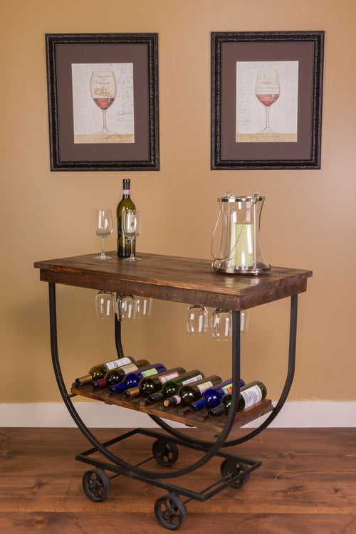 Handcrafted Vintage Wine Cart - Donachelli's Cellars