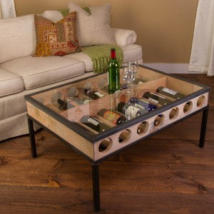French Glass Top Coffee Table