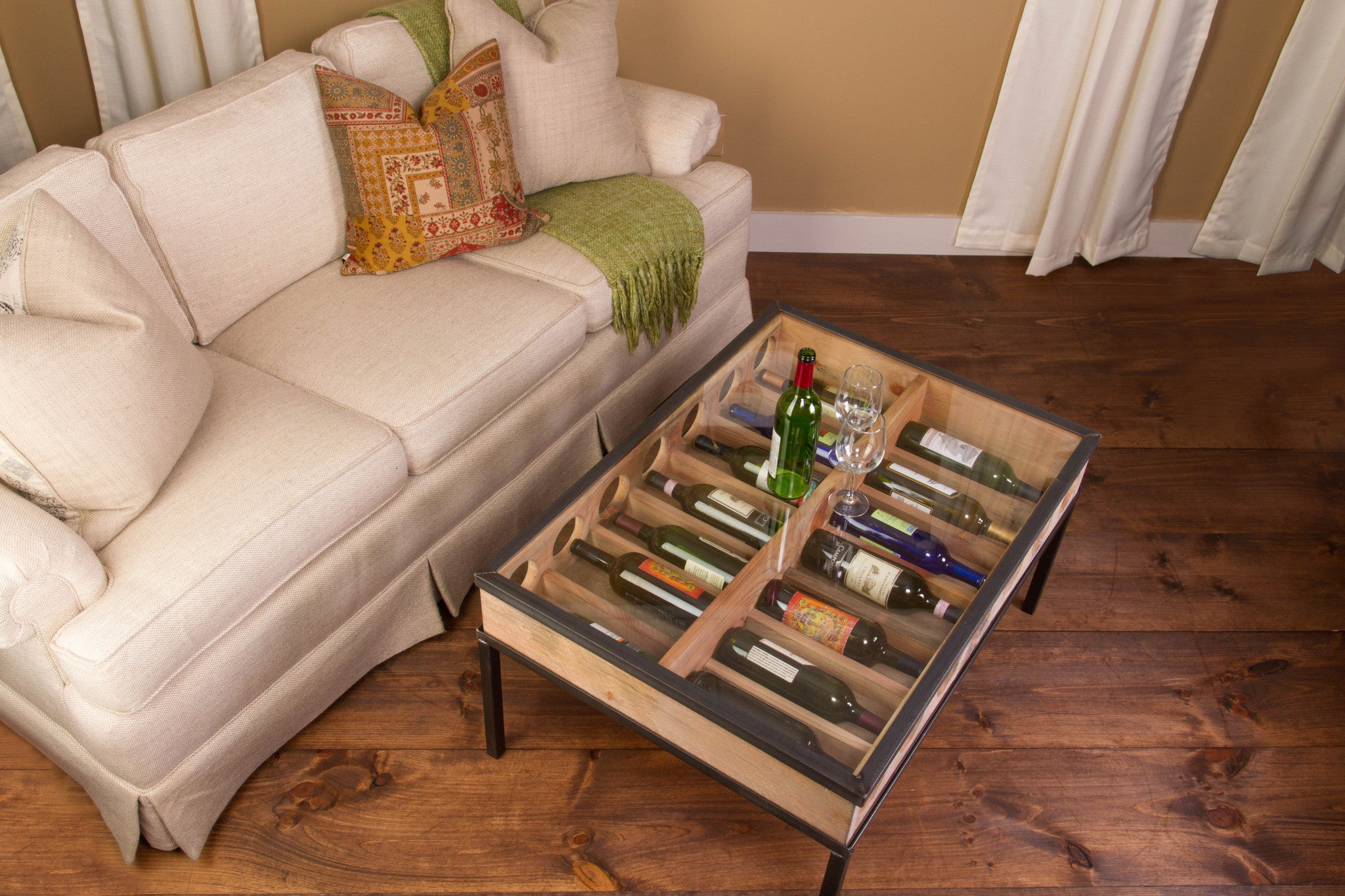 French Glass Top Coffee Table - Donachelli's Cellars