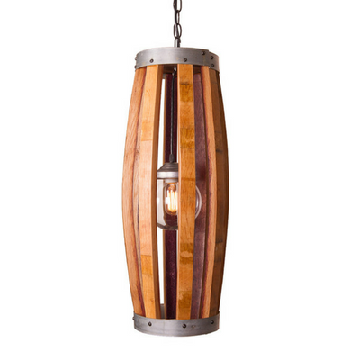 Hoop and Stave Long Pendant Light - Donachelli's Cellars
