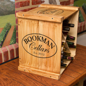 Personalized Wine Crate Rack - Donachelli's Cellars