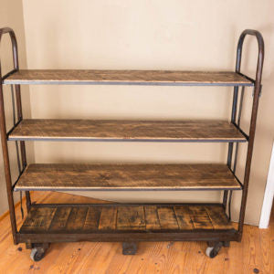 Vintage Cart with Shelves - Donachelli's Cellars