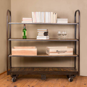 Vintage Cart with Shelves
