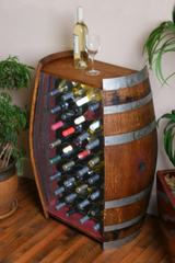 32 Bottle Barrel Cabinet