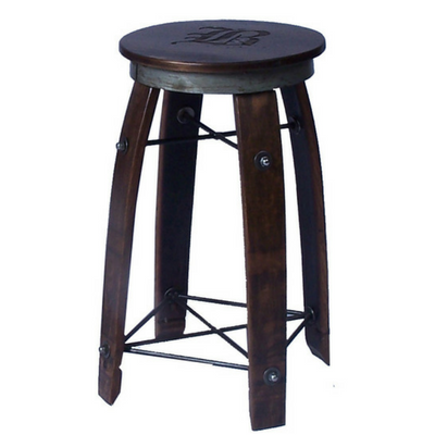 "24"" Daisy Swivel Stave Stool - Personalized - Donachelli's Cellars"