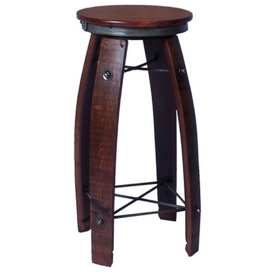 "28"" Daisy Swivel Stave Stool"