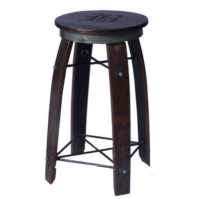 "28"" Daisy Swivel Stave Stool - Personalized - Donachelli's Cellars"