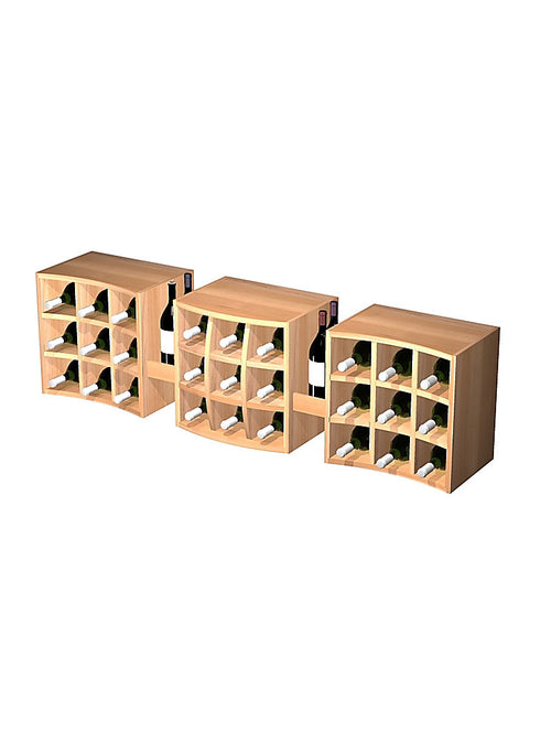 Curvy Cubes Wall Mount - 3 Individual Units with Display Trays - Donachelli's Cellars