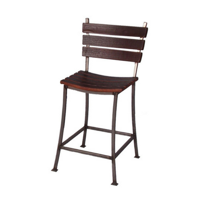 "24"" Stave Back Bar Stool - Donachelli's Cellars"