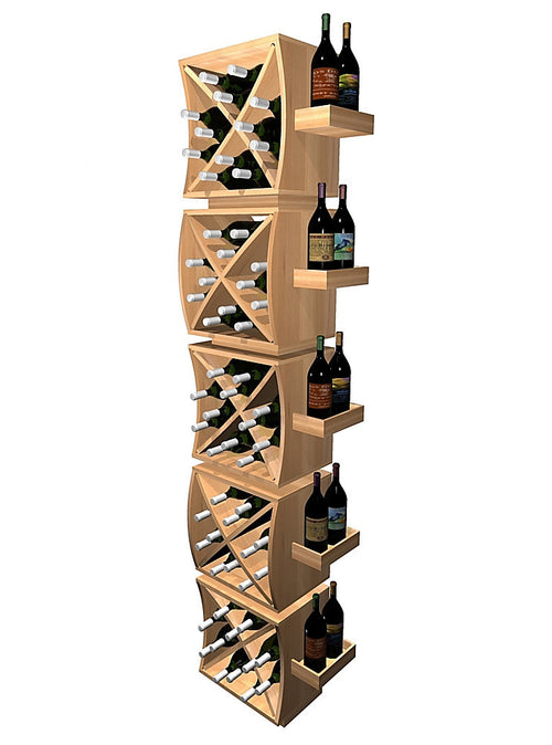 Curvy Cubes Concave Diamond Wine Cubes Stacker with Display Trays - Donachelli's Cellars