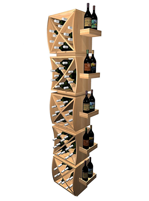 Curvy Cubes Convex Diamond Wine Cubes Stacker with Display Trays - Donachelli's Cellars