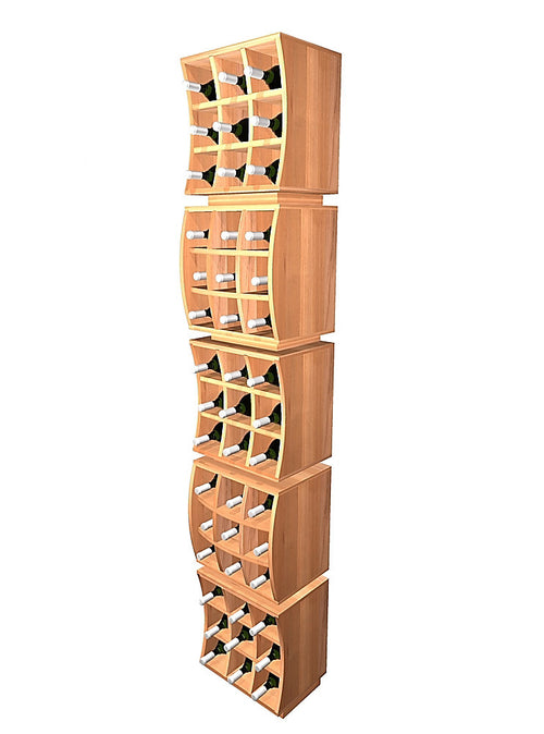 Curvy Cubes Concave Individual Wine Cube Stacker - Donachelli's Cellars