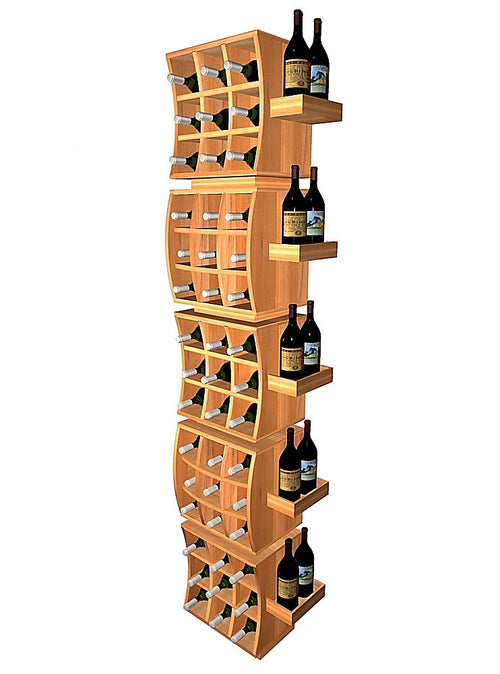 Curvy Cubes Concave Individual Wine Cubes Stacker with Display Trays - Donachelli's Cellars