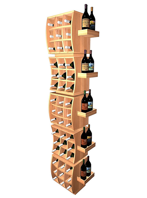 Curvy Cubes Convex Individual Wine Cubes Stacker with Display Trays - Donachelli's Cellars