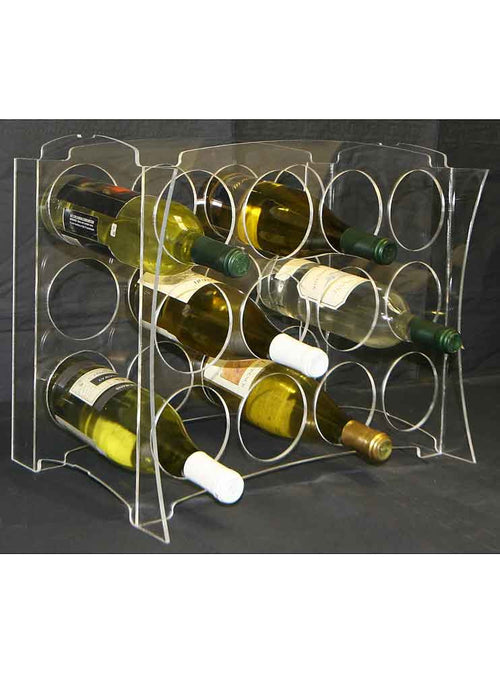 Modern Acrylic Concave Individual Wine Cubicle - Donachelli's Cellars