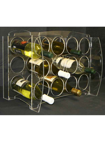 Concave Curvy Wine Cube with Diamond Insert