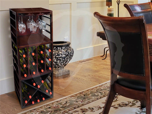 Epicureanist Stackable Diamond Wine Rack - Donachelli's Cellars