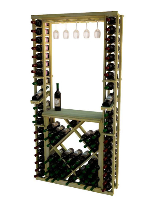 Traditional Series Tasting Center Bundle - Glass Rack, Tabletop, Individuals with Open Diamond Bin - Donachelli's Cellars