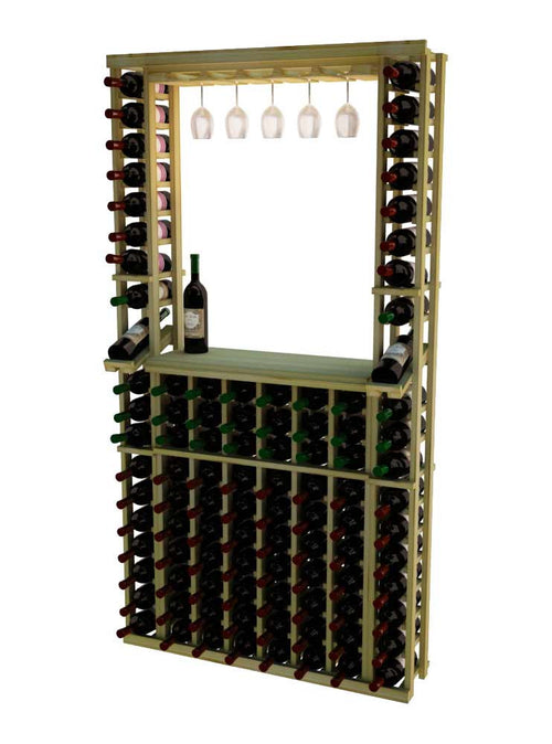 Traditional Series Tasting Center Bundle - Glass Rack, Tabletop and Individual Bottle Wine Racks - Donachelli's Cellars