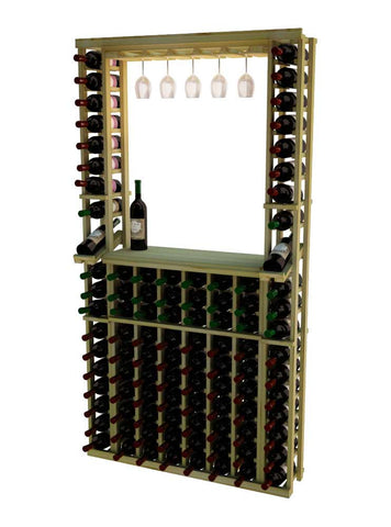 Traditional Series 2 Column Individual Wine Rack with Display Row