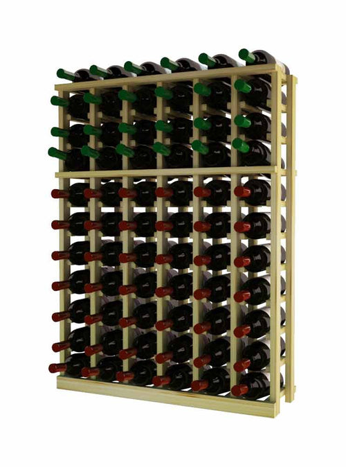 Traditional Series 6 Column Individual Half Height Wine Rack - Donachelli's Cellars