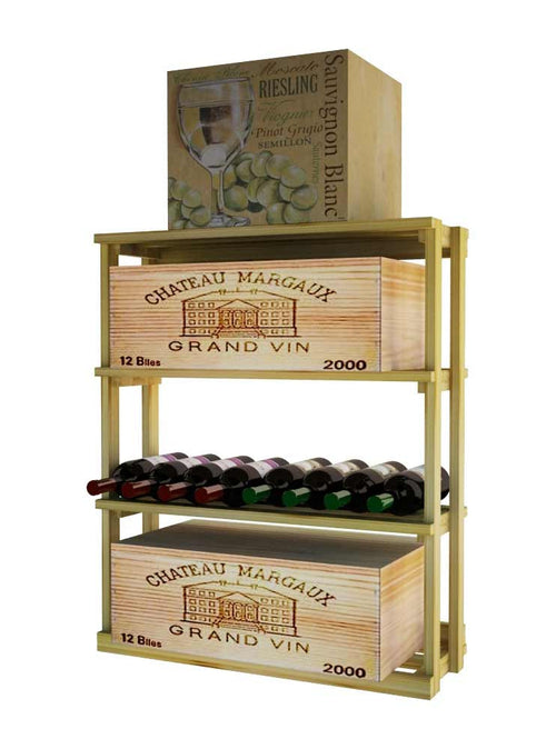 Traditional Series Rectangular Bin Wood Case - Donachelli's Cellars