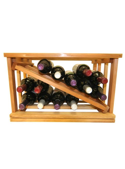 Mini Stack Series - Diamond Slat Wine Rack - Donachelli's Cellars