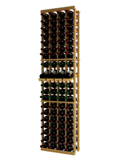Traditional Series 4 Column Individual Wine Rack with Display Row - Donachelli's Cellars
