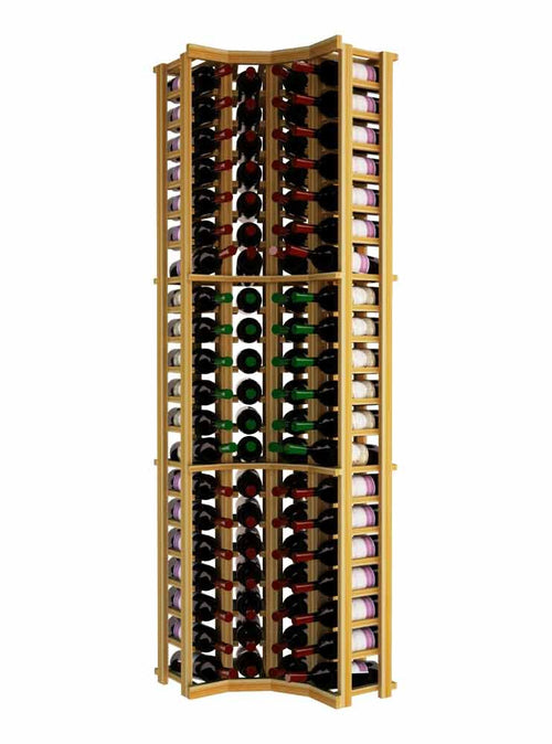 Traditional Series Curved Corner Wine Rack - Donachelli's Cellars