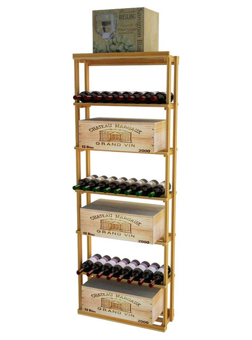 Traditional Series Rectangular Bin Case Rack for 180 Bottles - Donachelli's Cellars
