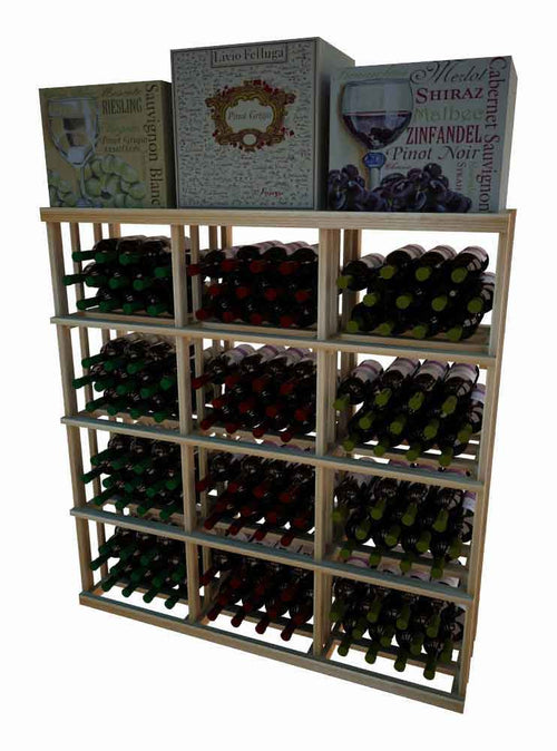 Vintner Series 3 Column Rectangular Bin Wine Rack - 4' Height - Donachelli's Cellars