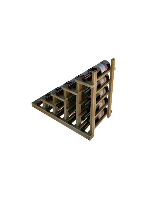 Vintner Series Waterfall Wine Rack - 1 Falling Left - No Bottom Stack - Donachelli's Cellars