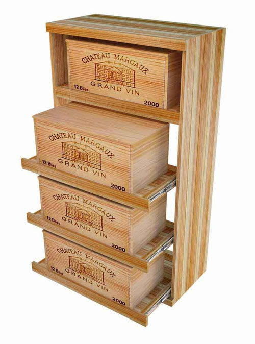 Vintner Elite Cabinetry - Pull Out Wine Wood Case - 4' Height - Donachelli's Cellars