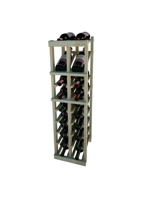 Vintner Series 2 Column Individual Wine Rack with Display Row -  3' Height - Donachelli's Cellars