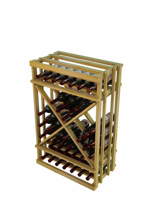 Vintner Series 1 Column Open Diamond Cube Wine Rack - 3' Height - Donachelli's Cellars