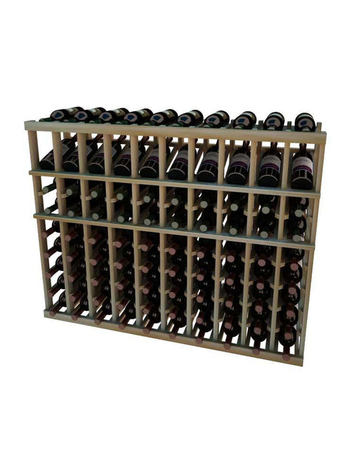 Vintner Series 10 Column Individual Wine Rack with Display Row -  3' Height - Donachelli's Cellars