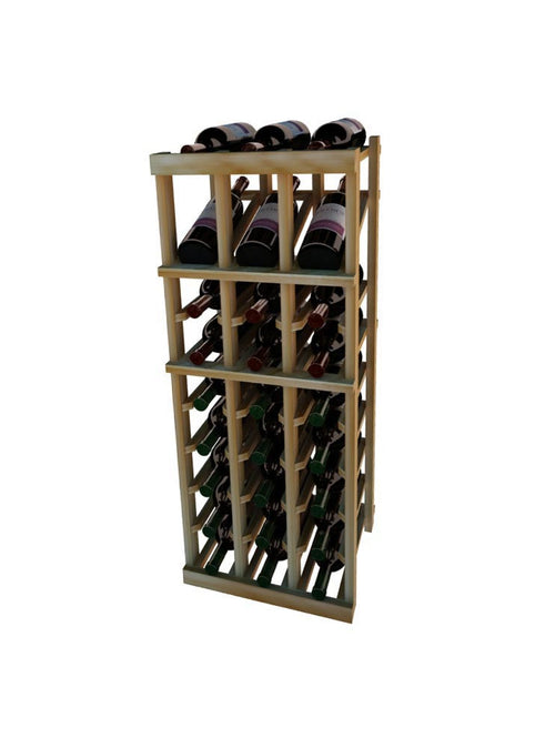 Vintner Series 3 Column Individual Wine Rack with Display Row -  3' Height - Donachelli's Cellars