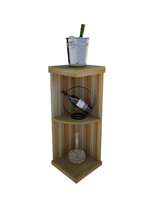 Vintner Elite Cabinetry - Quarter Round Wine Display Shelf - 3' Height - Donachelli's Cellars