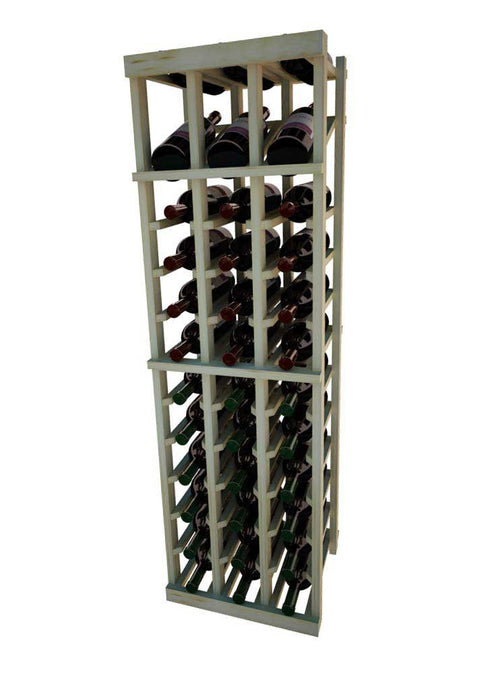 Vintner Series 3 Column Individual Wine Rack with Display Row -  4' Height - Donachelli's Cellars