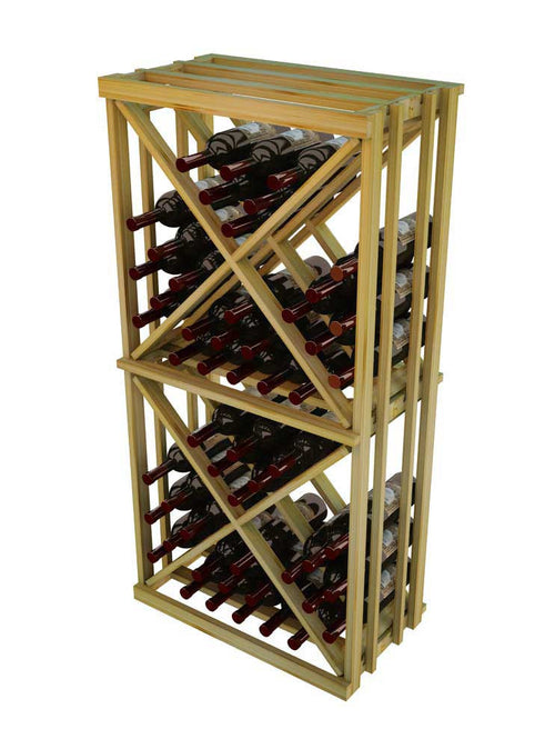 Vintner Series 1 Column Open Diamond Cube Wine Rack - 4' Height - Donachelli's Cellars