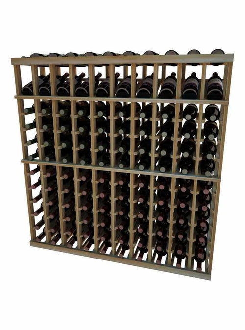 Vintner Series 10 Column Individual Wine Rack with Display Row -  4' Height - Donachelli's Cellars