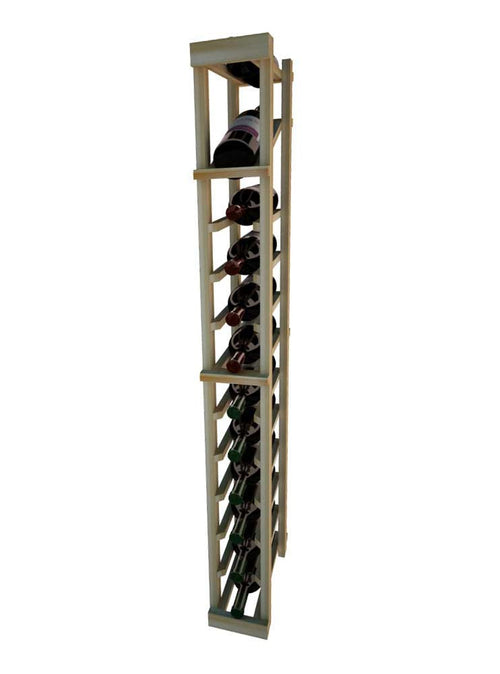Vintner Series 1 Column Individual Wine Rack with Display Row -  4' Height - Donachelli's Cellars