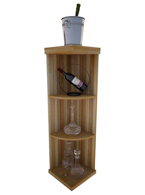 Vintner Elite Cabinetry - Quarter Round Wine Display Shelf - 4' Height - Donachelli's Cellars