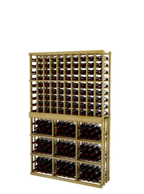 Vintner Series Individual Bottle Wine Rack - 10 Columns with 3 Column Rectangular Bin - 6' Height - Donachelli's Cellars