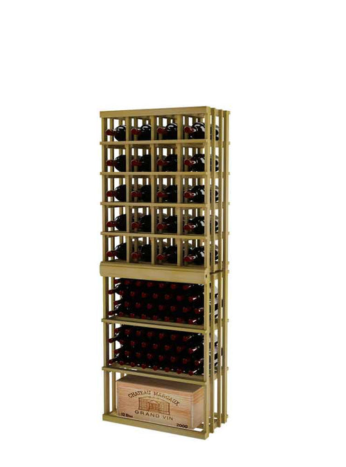 Vintner Series Magnum Wine Bottle Rack Stacked on Top of Rectangular Bin - 6' Height - Donachelli's Cellars