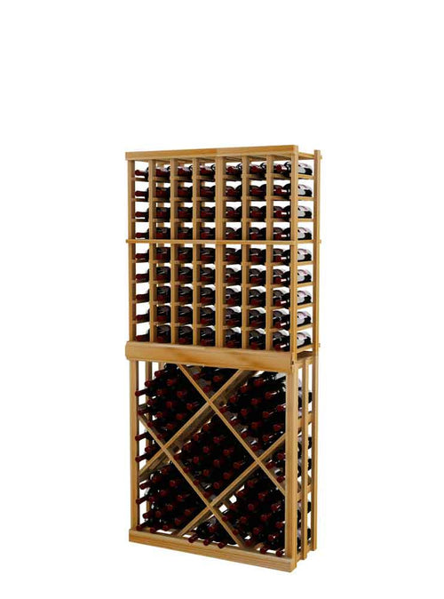 Vintner Series Individual Bottle Wine Rack with Open Diamond Bin - 6' Height - Donachelli's Cellars