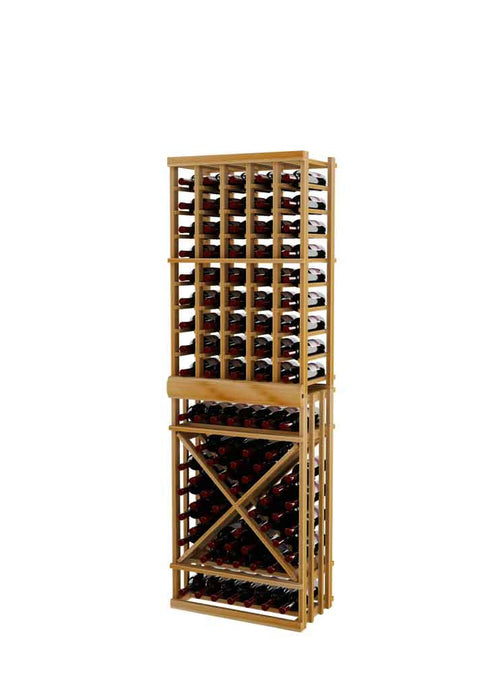 Vintner Series Individual Bottle Wine Rack with Open Diamond Cube - 6' Height - Donachelli's Cellars