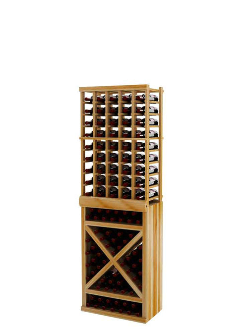 Vintner Series Individual Bottle Wine Rack with Solid Diamond Cube - 6' Height - Donachelli's Cellars