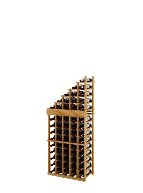 Vintner Series Waterfall Wine Rack - 1 Falling Left - 3' Bottom Stack - Donachelli's Cellars