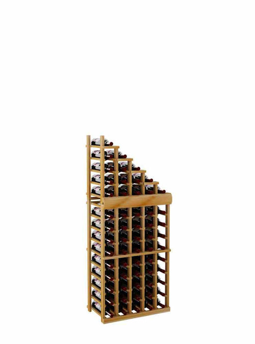 Vintner Series Waterfall Wine Rack - 1 Falling Right - 3' Bottom Stack - Donachelli's Cellars